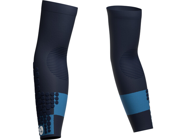 Compressport ArmForce Ultralight Arm Sleeves UTMB 2021 blue